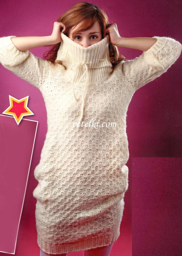 Молодежное платье-туника