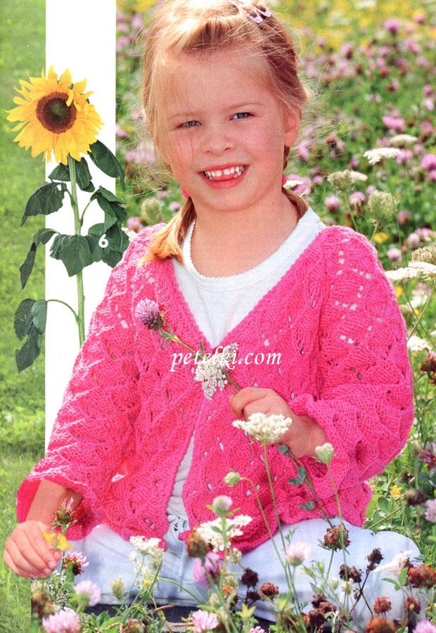 Вязаное летнее кофточки для девочки 1