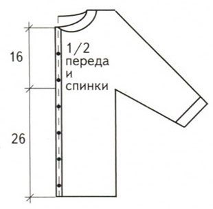 вязание кокетки спицами схемы