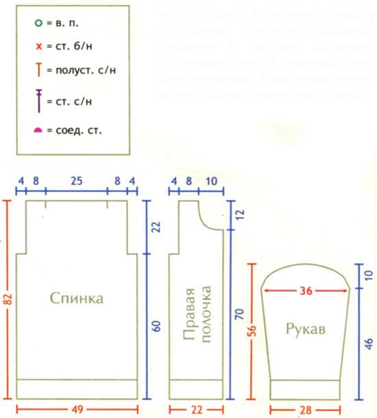 Вязанный кардиган на пуговицах схемы