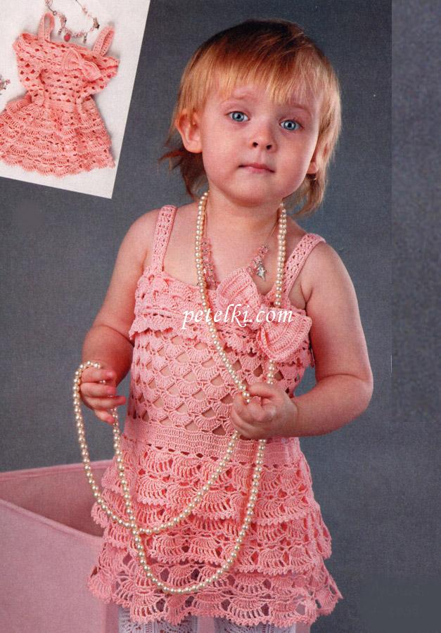 Вязание девочкам крючком фото