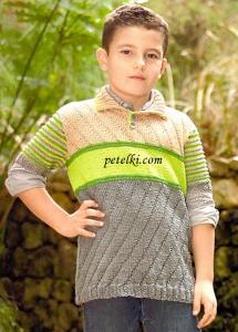 Джемпер с короткими рукавами для мальчика